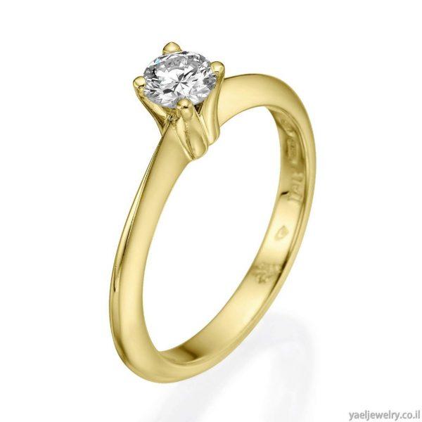 טבעת זהב בעיצוב אישי משובצת ביהלום