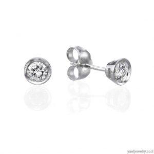 עגילים בעיצוב אישי משובצים יהלומים