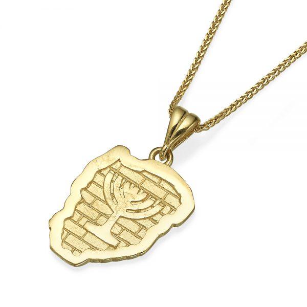 תליון זהב מנורת בית המקדש