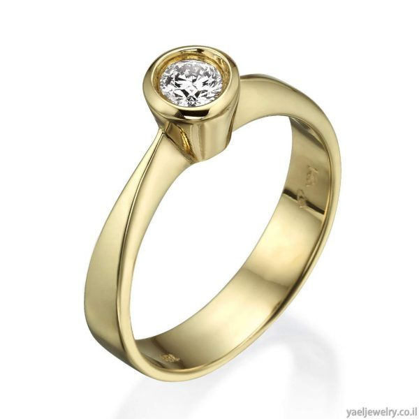 טבעת סוליטר שיבוץ מריחה