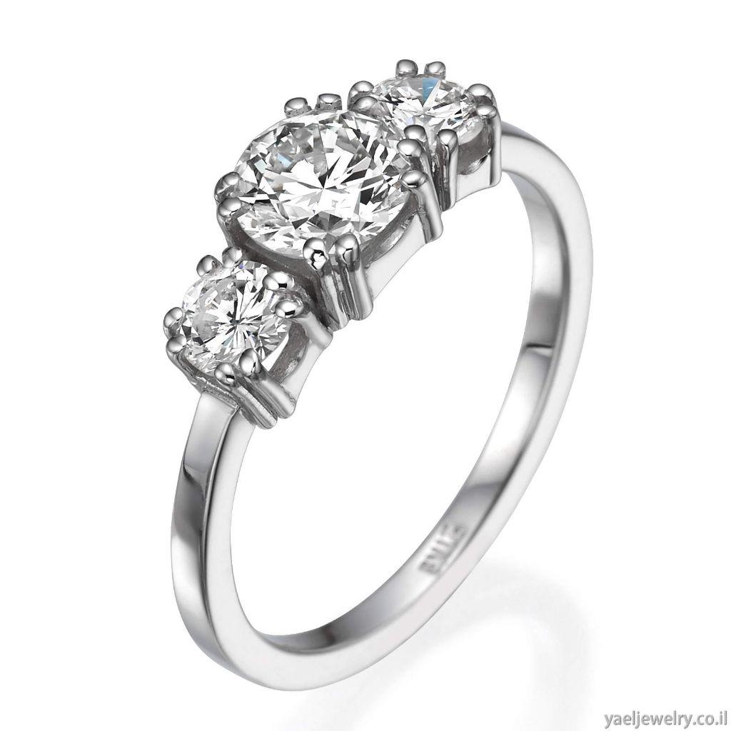 טבעת יהלומים זהב לבן בעיצוב אישי