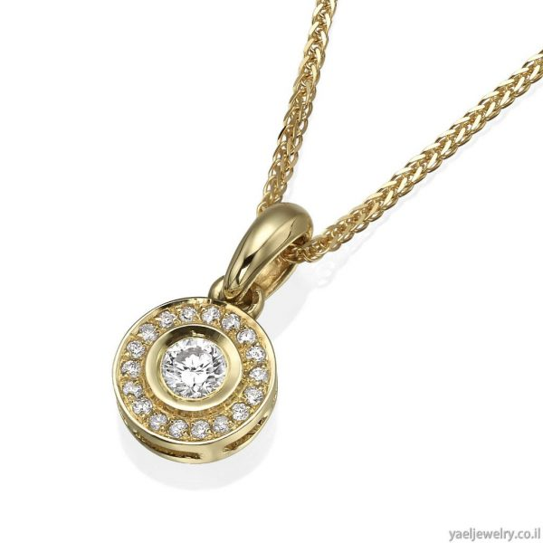 תליון זהב משובץ יהלומים
