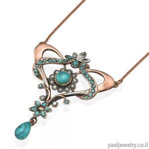 שרשרת זהב עם תליון בעיצוב אישי