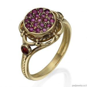טבעת זהב סגנון עתיק